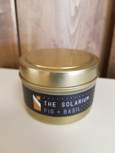 The Solarium - Fig & Basil Soy Wax Candle Tin