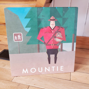 Printed Wood Art - Mountie