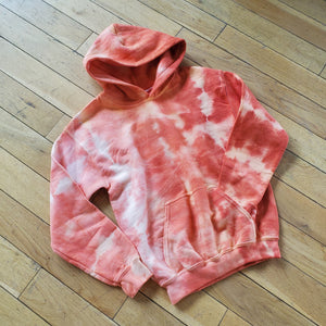 Tie Dye Hoodie - Orange (Youth Medium)