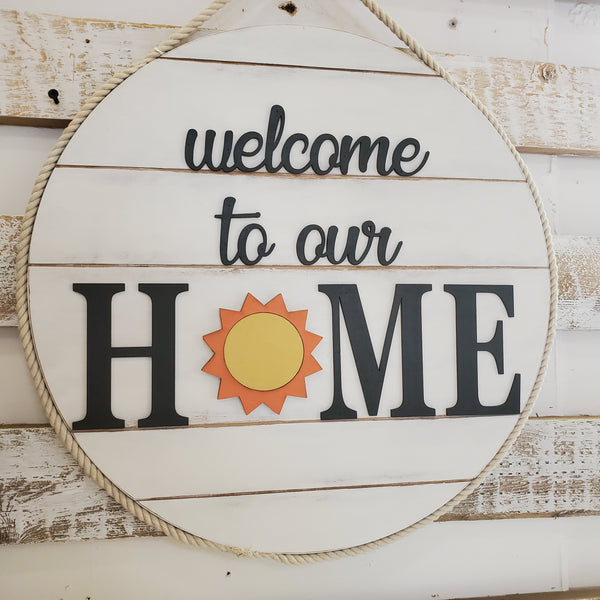 Wood Art - Welcome to our Home (With every season changeable!)