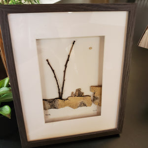 Pebble and Bee Nature Art - Family of 4