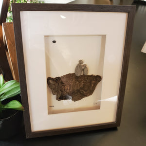 Pebble and Bee Nature Art - Family of 3