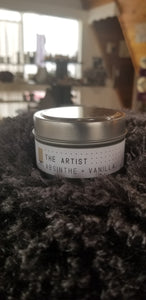 The Artist - Absinthe & Vanilla Soy Wax Candle Tin