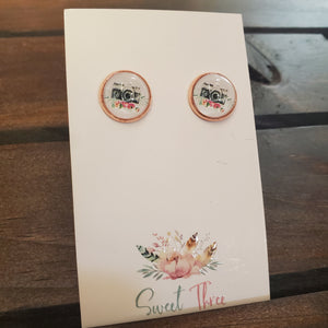 Sweet Three Glass Studs STG7