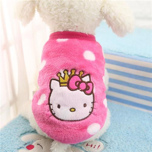 Pet Junxion clothing 1 / L Autumn/Winter Cartoon Fleece Jacket