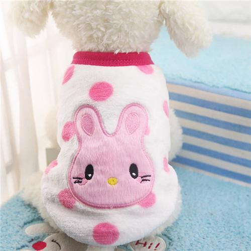 Pet Junxion clothing 10 / XXS Autumn/Winter Cartoon Fleece Jacket