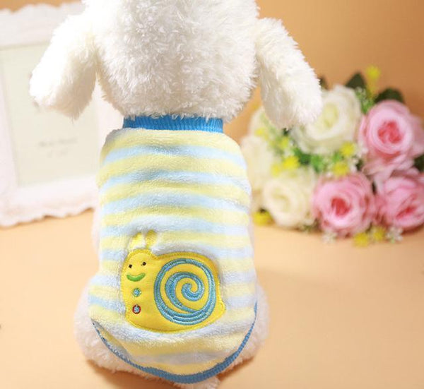 Pet Junxion clothing 15 / XS Autumn/Winter Cartoon Fleece Jacket