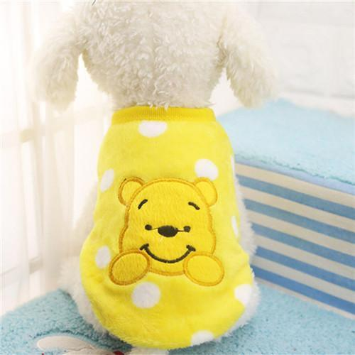 Pet Junxion clothing 2 / XXS Autumn/Winter Cartoon Fleece Jacket