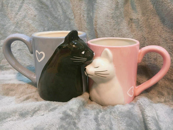 Pet Junxion gifts Luxury His and Hers Ceramic Cat Mugs