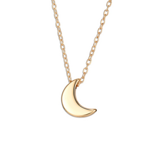 Minimalistic Small Moon Pendant Necklace