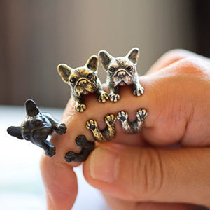 Retro Bulldog Ring