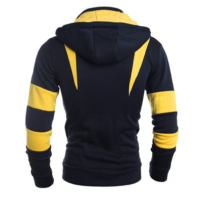 Men Retro Long Sleeve Hoodie