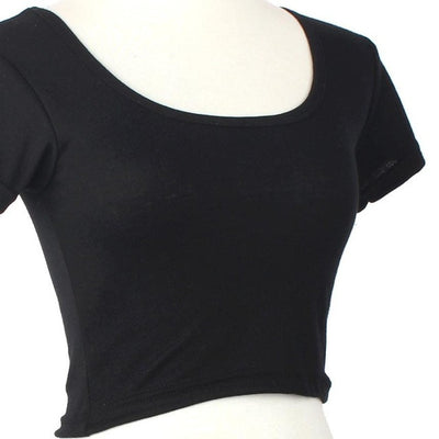 Women Basic Tees Short Tops Cropped shirt