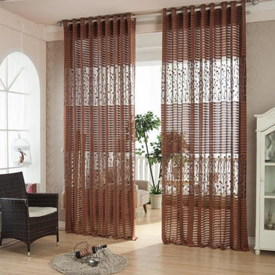 Europe style solid tulle sheer window curtains
