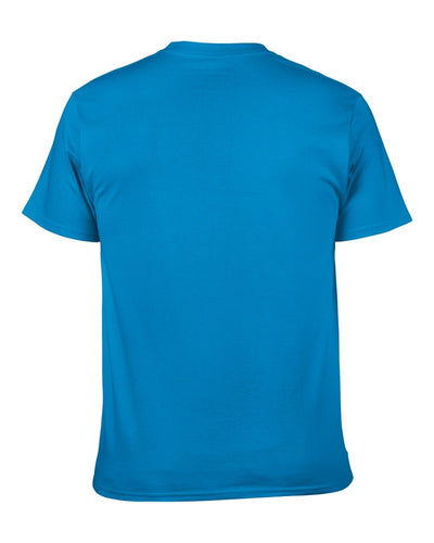 100% Cotton Solid Color Short Sleeve t-shirt Male Clothing