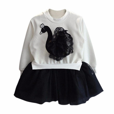 Swan Infant Girl Clothes Suit