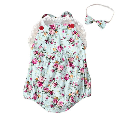 Lace Floral printes Baby Swag Rompers baby girl clothes