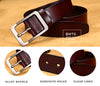 Genuine Leather Strap Luxury Pin Buckle Casual Belt