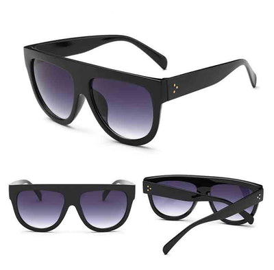 Men Women Square Vintage Mirrored Sunglasses