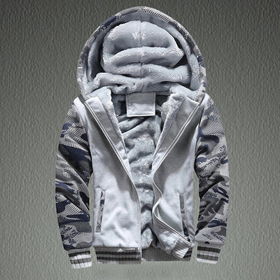 Winter Warm Fleece Hood Zipper Sweater Jacket Outwear Coat