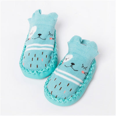 Newborn Infant Funny Socks With Rubber Soles