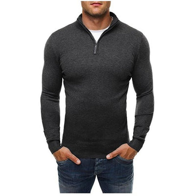 Casual Sweater Turtleneck Slim Fit Knitting Mens Sweaters
