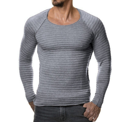 Autumn Winter Fashion Clothing Men's Striped Sweaters