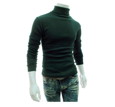 Turtleneck Solid Color Casual Sweater