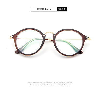 Transparent Frame Vintage Optical Eye Glasses