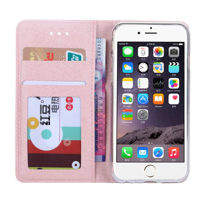 Silk Leather Wallet Case For iPhone 6 6S 7 8 Plus