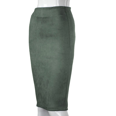High Waist Stretchy Bodycon Knee Length Pencil Skirts