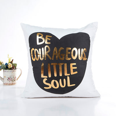 45*45 Gold Foil Printing Pillow For Travel