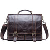 Men's briefcase genuine leather