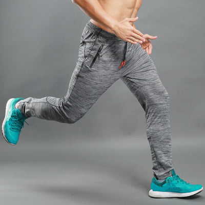 Men's Elastic Breathable Sweat PantsA Grey