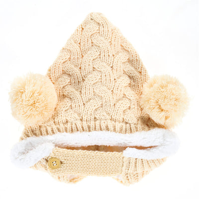 Kids Winter Crochet Warm Cap Scarf Set