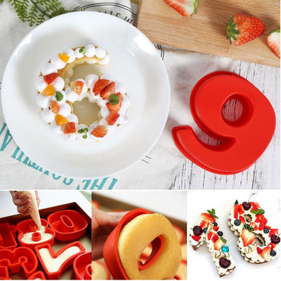 10 inch 0-9 Silicone Digital Cake Mold Cake Numbers Shape Cake Decoration Tool