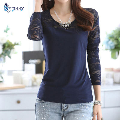Casual Women Cotton Long Sleeve Shirt Tee