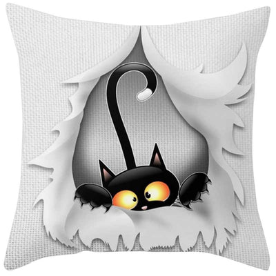 45*45 Cat Square Home Decoration Bedroom Pillows