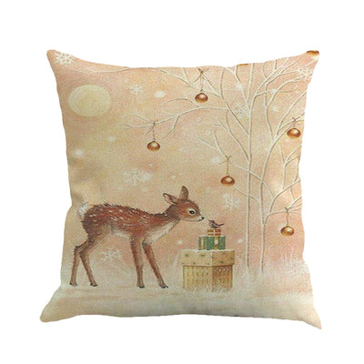 45*45 Christmas Printing Dyeing Pillow Cover