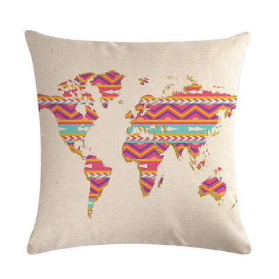Map series style Printed Pillow cover