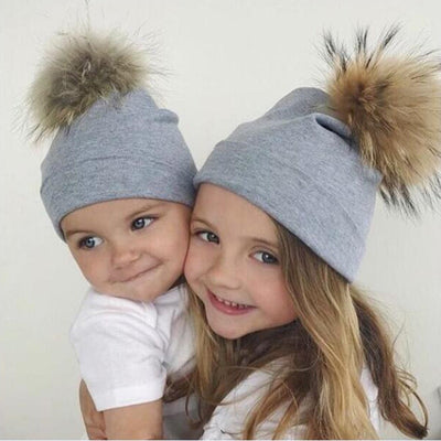 Mommy and Baby Cotton Hat Caps