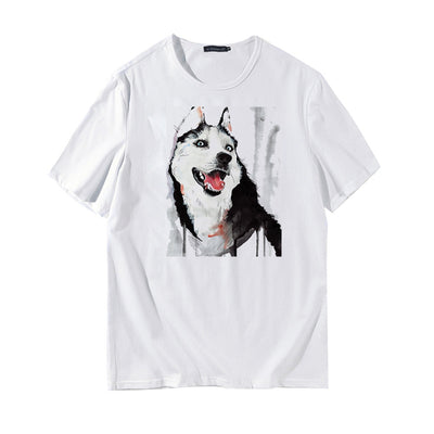 Cute Dog Printed Short Sleeve Summer