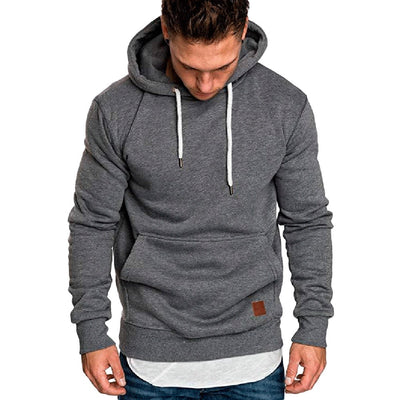 Mens Long Sleeve Casual Hooded Sweatshirt
