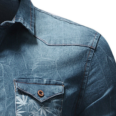 Men's Casual Slim Fit Button Shirt With Pocket Short Sleeve Tops Blouse