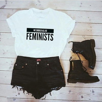 Feminism Slogan Hipster Women Equal Right T Shirt