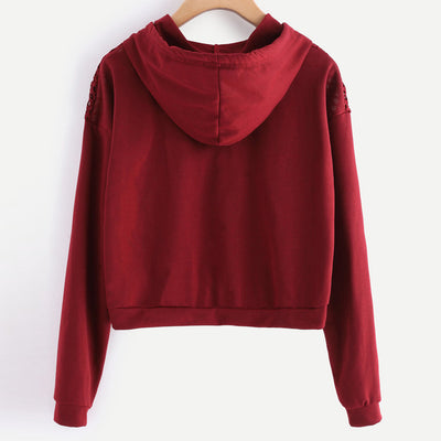 Women Sweater Crop Pullover Tops