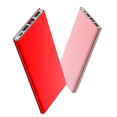 Ultra Thin 20000mah External Battery 2 USB LED Display Power Bank