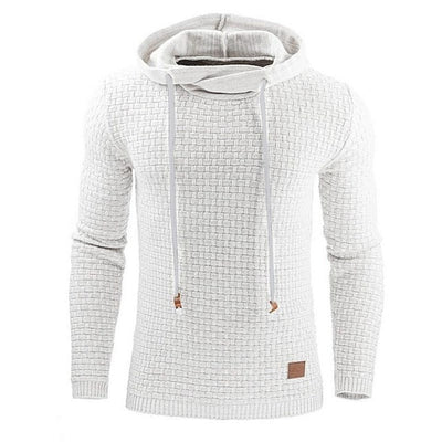 Long Sleeve Solid Color Hooded Mens Sweater