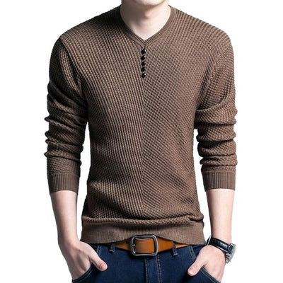 Mens Sweaters Knitted Cashmere Wool Pull Homme