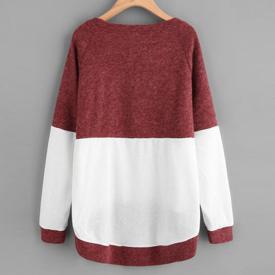 Womens Fashion Long Sleeve Blouse Knitting Sweater